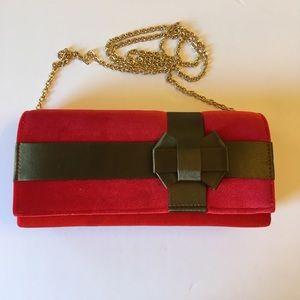 CHARMING CHARLIE Velvet box clutch/Crossbody